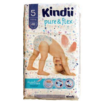Kindii Pure & Flex Pieluchy jednorazowe 5 (11-20kg) 1 op. - 48 szt.