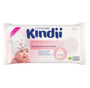 Kindii Sensitive Chusteczki dla niemowląt 60 szt.