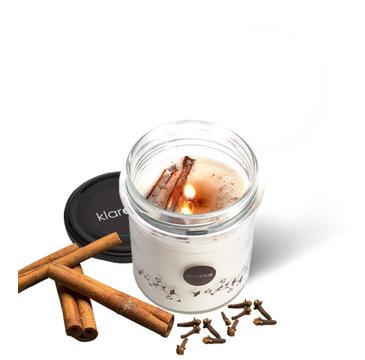 Klareko Pachnące Świecidło Większe zapachowa świeca sojowa cynamon & goździki 200 g