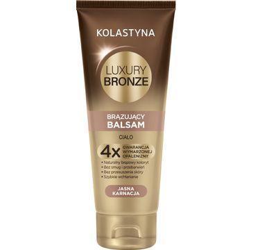 Kolastyna Luxury Bronze Balsam do cia艂a br膮zuj膮cy do jasnej karnacji (200 ml)
