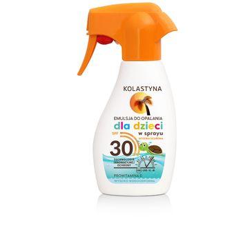 Kolastyna Opalanie emulsja do opalania dla dzieci w sprayu wysoko wodoodporna SPF30 200 ml