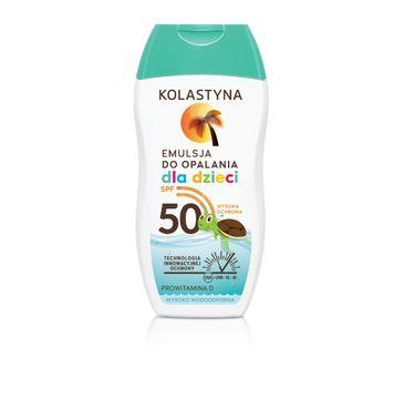 Kolastyna Opalanie emulsja do opalania dla dzieci wysoko wodoodporna SPF50 150 ml
