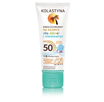 Kolastyna Opalanie krem ochronny dla dzieci wysoko wodoodporny SPF50 75 ml