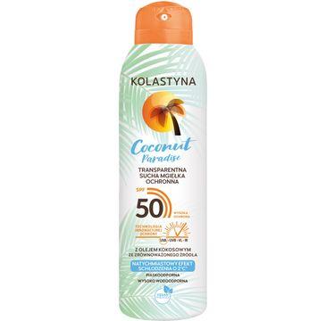 Kolastyna Transparentna sucha mgiełka ochronna do ciała Coconut Paradise SPF50 (150 ml)