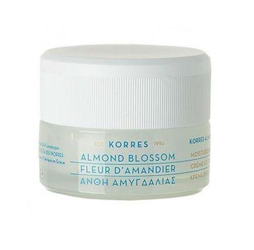 Korres Almond Blossom Moisturizing Cream nawilżający krem do twarzy do cery tłustej i mieszanej z wyciągiem z kwiatu migdałowca 40ml