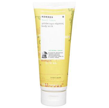 Korres Basil Lemon Body Milk nawilżające mleczko do ciała o zapachu bazylii i cytryny 200ml