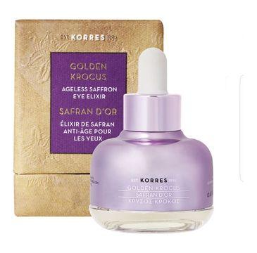 Korres Golden Krocus Ageless Saffron Eye Elixir eliksir młodosci pod oczy z szafranem 18 ml