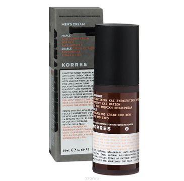 Korres Men's Cream Maple Anti-Ageing Cream krem przeciwzmarszczkowy do twarzy i pod oczy z syropem klonowym 50ml