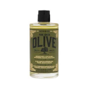 Korres Pure Greek Olive Nourishing Oil olejek nawilżający 100ml