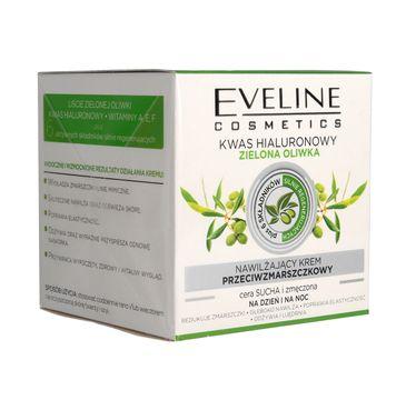 Krem Eveline kwas hialuronowy zielona oliwka (nawilżający i przeciwzmarszczkowy 50 ml)
