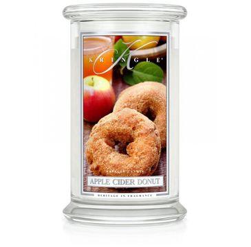 Kringle Candle Duża świeca zapachowa z dwoma knotami Apple Cider Donut (623 g)