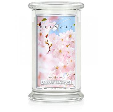 Kringle Candle Duża świeca zapachowa z dwoma knotami Cherry Blossom (623 g)