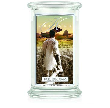 Kringle Candle Duża świeca zapachowa z dwoma knotami Far Far Away (623 g)