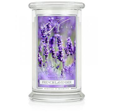 Kringle Candle Duża świeca zapachowa z dwoma knotami French Lavender (623 g)