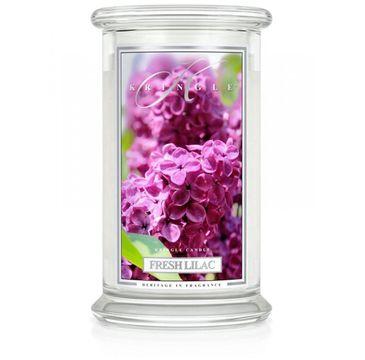 Kringle Candle Duża świeca zapachowa z dwoma knotami Fresh Lilac (623 g)
