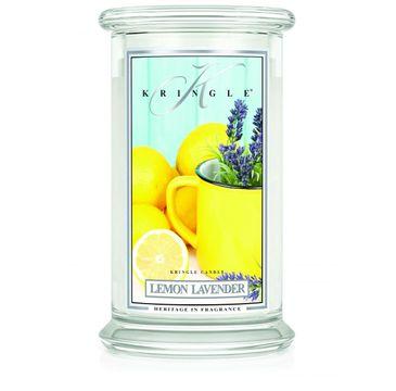 Kringle Candle Duża świeca zapachowa z dwoma knotami Lemon Lavender (623 g)