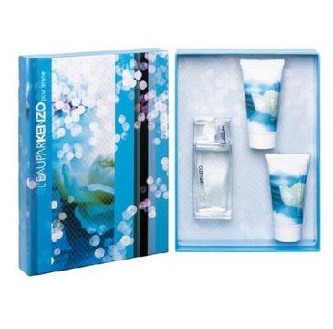 L'eau par Kenzo zestaw woda toaletowa spray 50ml + perfumowany żel pod prysznic 50ml + perfumowany balsam do ciała 50ml
