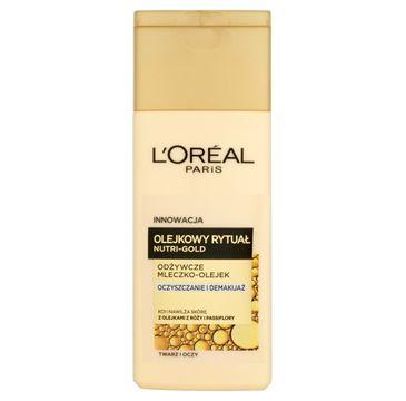 L'Oreal Dermo Nutri Gold Olejkowy Rytuał Mleczko-Olejek do demakijażu twarzy 200 ml