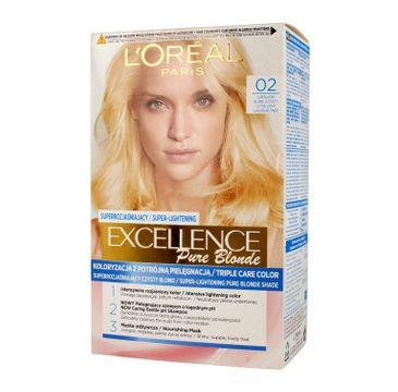 L'oreal Excellence Creme Pure Blond Krem koloryzujący 02 Superjasny Blond Złocisty 1op.