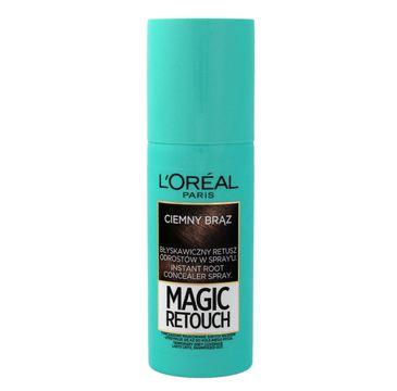 L'Oreal Magic Retouch spray do retuszu odrost贸w nr 2 ciemny br膮z 75 ml
