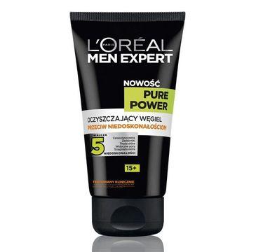 L'Oreal Men Expert Pure Power Oczyszczający węgiel przeciw niedoskonałościom twarzy 15+ 150 ml