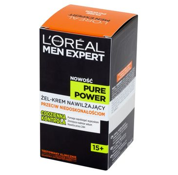 L'Oreal Men Expert Pure Power żel-krem do twarzy 15+ nawilżający przeciw niedoskonałościom 50 ml
