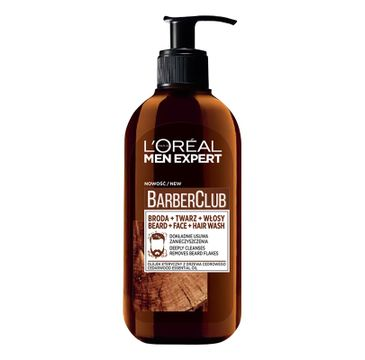 L'Oreal Paris Men Expert Barber Club 3in1 oczyszczający żel do mycia brody twarzy i włosów 200ml