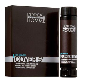 L'Oreal Professionnel Homme Cover 5 Ammonia-Free Hair Colour Gel żel do koloryzacji włosów dla mężczyzn 4 Brown 3x50ml