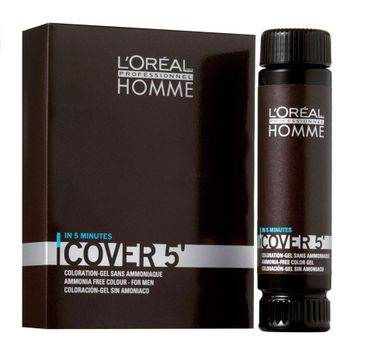L'Oreal Professionnel Homme Cover 5 Ammonia-Free Hair Colour Gel żel do koloryzacji włosów dla mężczyzn 5 Light Brown 3x50ml