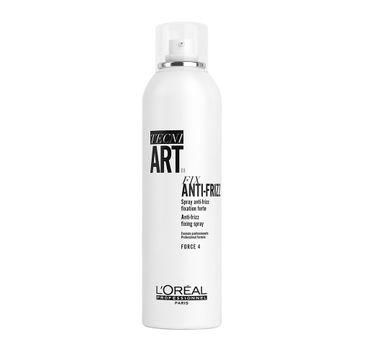 L'Oreal Professionnel Tecni Art Fix Anti-Frizz Fixing Spray mocno utrwalający lakier do włosów Force 4 400ml