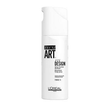L'Oreal Professionnel Tecni Art Fix Design Directional Fixing Spray precyzyjny spray do miejscowego utrwalenia Force 5 200ml