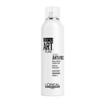 L'Oreal Professionnel Tecni Art Pure Fix Anti-Frizz Spray mocno utrwalający lakier do włosów Force 4 400ml