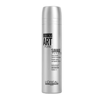 L'Oreal Professionnel Tecni Art Pure Savage Panache Powder Spray puder w sprayu nadający objętość włosom Force 4 250ml
