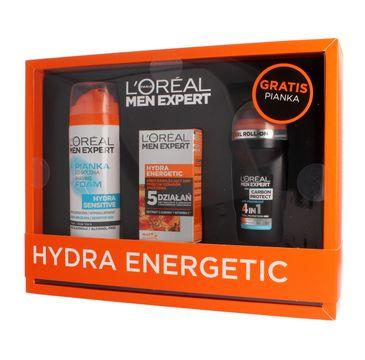 L'oreal zestaw prezentowy Men Expert Hydra Energetic pianka do golenia 200 ml + krem nawilżający 50 ml + deo roll-on 50 ml