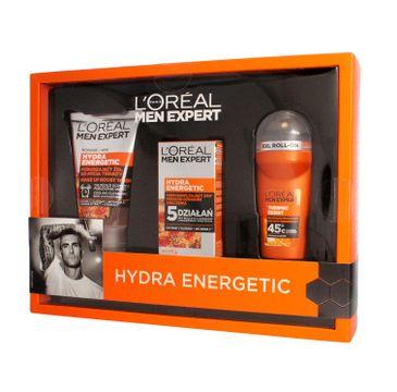L'oreal Zestaw prezentowy Men Expert Hydra Energetic żel do mycia 100 ml + krem nawilżający 50 ml + dezodorant roll-on 50 ml