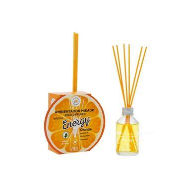 La Casa de los Aromas – Reed Diffuser Energy olejek aromatyczny z patyczkami Pomarańcza (100 ml)