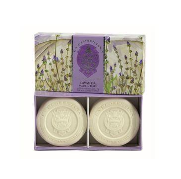 La Florentina Sculpted Soap zestaw mydeł do ciała Lavender 2x115g