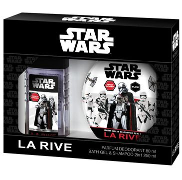 La Rive Disney Star Wars First Order Zestaw dezodorant perfumowany 80 ml + żel do kąpieli 2w1 250 ml