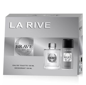 La Rive for Men Brave Man Zestaw woda toaletowa 100 ml+ dezodorant 150 ml