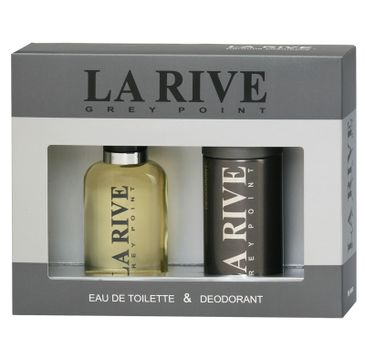 La Rive for Men Grey Point Zestaw woda toaletowa 100 ml + dezodorant 150 ml