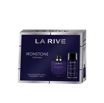 La Rive for Men Ironstone Zestaw prezentowy woda toaletowa 100ml+dezodorant spray 150ml (1 szt.)