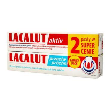 Lacalut – Pasta do zębów DUO Activ 75ml + przeciw próchnicy 75ml (2 szt.)