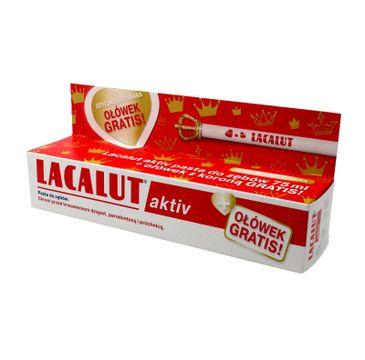 Lacalut Activ pasta do zębów przeciw paradontozie + ołówek z koroną 75 ml