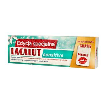 Lacalut – Pasta do zębów Sensitive 75ml + nić dentystyczna (1 szt.)