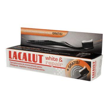 Lacalut pasta do zębów White & Repair wybielająco naprawcza (szczoteczka gratis) 75 ml