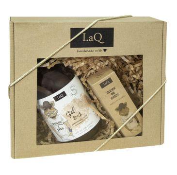 LaQ Dzikus z Lasu zestaw kosmetyków dla mężczyzn – żel pod prysznic (500 ml) + olejek do brody (30 ml