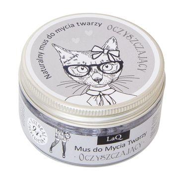 LaQ mus do mycia twarzy oczyszczający z węglem aktywnym (100 ml)