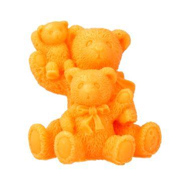 LaQ Mydełko glicerynowe Rodzinka-Trzy Misie - pomarańczowe 80 g