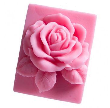 LaQ Mydełko glicerynowe Róża w Prostokącie - różowa 90 g