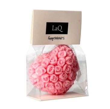 LaQ mydełko Serce w różyczki różowe 45 g